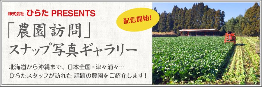 「農園訪問」スナップ写真ギャラリー!北海道から沖縄まで、日本全国・津々浦々…ひらたスタッフが訪れた話題の農園をご紹介します!
